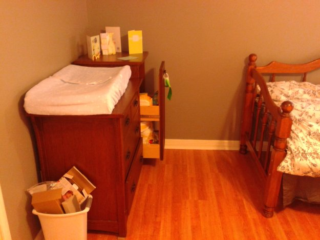 Changing table in nursery