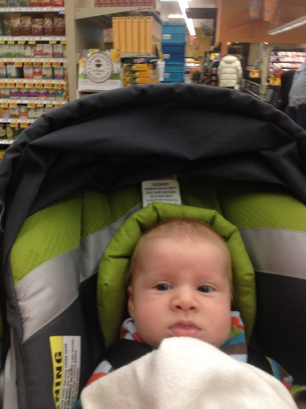 Sam shopping without his mama :(