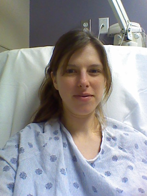 Workin' that hospital gown
