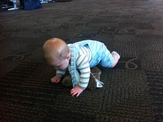 Crawling at just shy of 5 months and 3 weeks