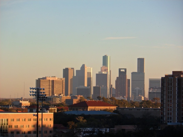 Houston sunrise skyline